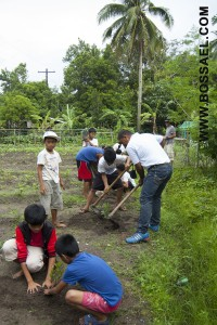 The boys were so eager to plant trees!